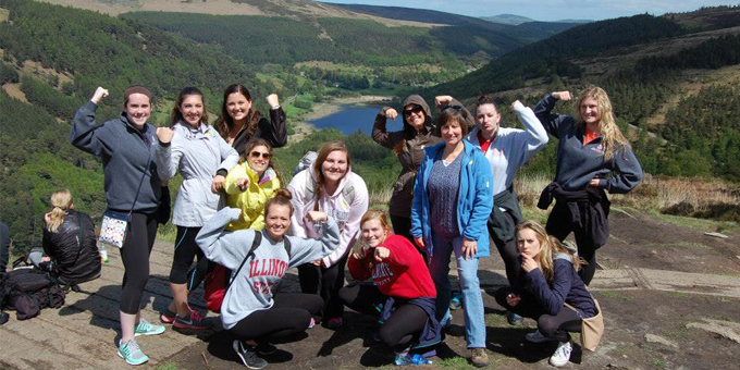 College of Education students in Dublin for study abroad experience