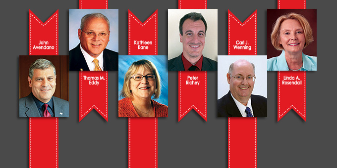 Hall of Fame and Outstanding Young Alumni Award recipients 2014
